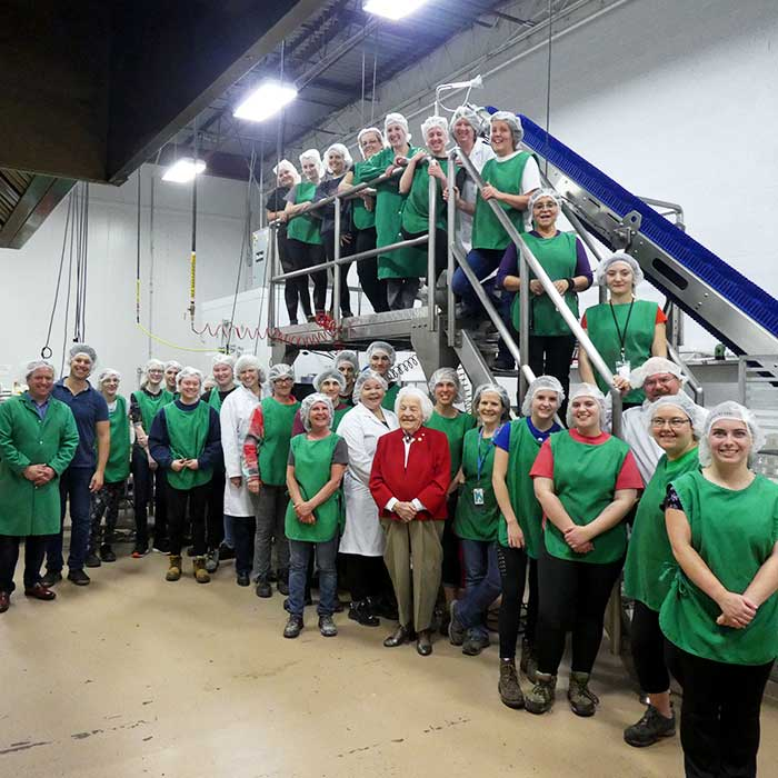 Hazel McCallion visits Terra Cotta Foods Ltd.